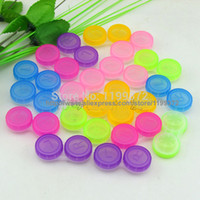 Wholesale pairs L amp R Contact Lens Case Holder Container Soak Storage lovely Colorful Dual Box Double Case Lens Soaking Case