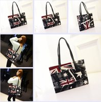 handbags usa - 4 colors Casual Personalized Large Capacity PU Shoulder Bag For Women USA Flag Bags Girls Tote Handbags Beach Bags Frozen A
