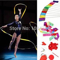 Wholesale S111 PC HOT SELL M Dance Ribbon Gym Rhythmic Art Gymnastic Ballet Streamer Twirling Rod