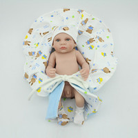 Wholesale Fashion Newborn Baby Dolls inches Small Vinyl Reborn Boy Doll Fashion Gift For Kids