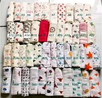 al por mayor envolturas de muselina-120 * 120cm de muselina manta de bebé infantil resorte enrollado envolver Aden Anais bebé manta de felpa del bebé del verano Fedex libre