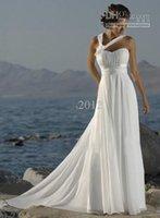 Wholesale Sexy Sheath one shoulder Beach Wedding Dresses Bridal Bridesmaid Gown Prom Ball Evening dress High Quality Custom Made