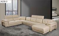 genuine leather sofa - Large Genuine YUQI Leather Hard Wood Frame Corner leather sofa Classic Commission Color modern Sofas Ship With EMS DHL