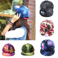 Wholesale 2015 Brand New Galaxy Pattern Space Print Snapback Style Women Men Hats Unisex Fashion Baseball Hip Hop Cap Retail H3145