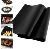 bamboo bbq - BBQ grill cover liner cm bbq Grill Mat Non Stick Reusable bbq cover for cooking baking microwave oven PFOA
