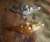 advance career - The United States advanced flight pilot qualification badge metal badge Chapter Chapter Chapter gold silver skills