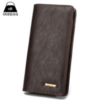 Wholesale Tmc New Wallet Mens Long Zipper Coin Purse PU Leather Notecase Business Male Clutch Carteira Phone Bag Masculina Colors