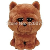 barley dogs - New Original Ty Beanie Boos Big Eyed Stuffed Animals Barley Brown Chow Dog Plush Toys For Children Gifts Kids Toys CM