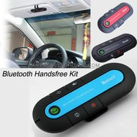 Wholesale Wireless Stereo Universal Bluetooth Car Kit Handsfree Speakerphone Headset With Car Charger Hands Free Kit for iPhone Samsung S6 Note4 HTC