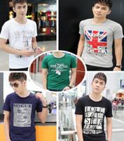 clothing men women - Men T Shirts Print fashion men women short sleeves cotton cartoon T shirt tees clothing apparel colorful many designs