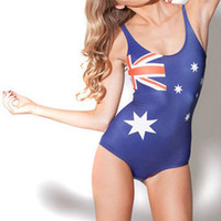 Wholesale 2015 New One piece Swimsuit Sexy Superman Wonder Women Bikini Wolrd Flags Women Swimwear Digital Printed Swimwear Styles