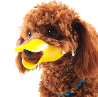 Wholesale Adjustable Cute Pet Dog Muzzle Duck Face Lip Mouth Guard Protection Anti barking Toy Dog Mask Bite Bark Prevent Stopper