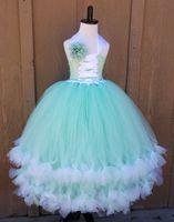 Cheap Satin beauty girls pageant dresses Best Ruffle  teen pageant dresses