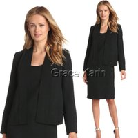 Cheap Grace Karin 2PCS Jacket Coat Short Dress Slim Womens Sheath Dress Blazer Set Formal Business CL7343