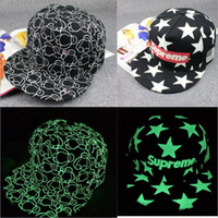 snapbacks - Hot Sell Baseball Hat Luminous Caps Night Glow Hip hop Hats Weed Leaf Pot Fashion Flat Bill Snapbacks Baseball Cap Color M139