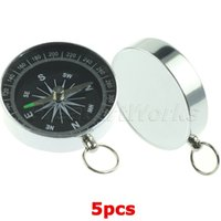 best portable navigation - Best Selling Portable Aluminum Navigation Compass Ball with key Chain Ring for Camping Hiking