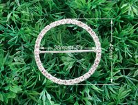 Wholesale 50pcs Wedding Craft Buckles Diamante Rhinestone DIY Wedding Ribbon Slider Buckle Bridal Invitation Supplies A04 quot inner Napkin Ring
