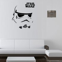 Wholesale Newest Star Wars Stromtrooper Wall Stickers with Star Wars Character Letters wall decal fans home decor