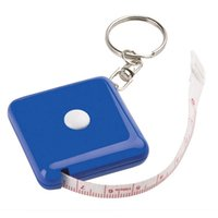 Wholesale Mini Square Fiberglass Tape Measure Retractable Personalized Keyrings Promotion Gifts M Soft Band Tape WHole Good Price