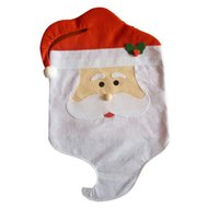 Wholesale Delicate New Creative Hot Sale Santa Cute Chair Back Set Covers Dinner Decor Christmas nor5826
