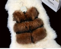 Wholesale Hot Sale Retail Gilet waistcoat Fashion Women Real Raccoon Fur Vest For Lady Natural Color Female Stock