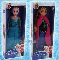 Wholesale Small Novelty Baby Toys - 150pcs Hot Sale Frozen Elsa Anna Princess Dolls Figure Toys 31 cm with Nice retail box package Baby Children toys Empress Elsa free shipping