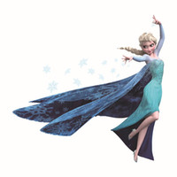 Wholesale Wall Stickers Wallpaper Rolls Removable Frozen Queen Elsa Olaf CM Wall Decals Home Décor Sticker For Kids Room
