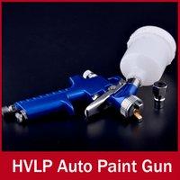 Cheap Auto Spray Gun H2000 Traditional Mini HVLP with 0.8mm nozzle Automotive Shop Paint Gun tool Navy Blue Air Brush Alloy