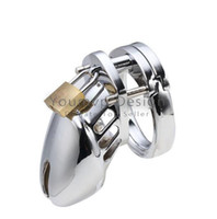 Cheap Stainless Steel Chasity Devices Cock Chastity Cage Cock Cage Penis Ring Penis Cage 3 rings to choose Sex toys for Men JJD0029