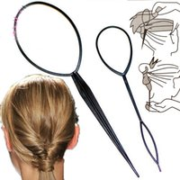 Wholesale 2Pcs Set Magic Topsy Tail Hair Braid Ponytail Styling Maker Clip Tool Hair Pin Hair Maker Styling Tool Hair Accessories