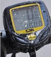 Wholesale Wireless Bike Computers Black Performance Wireless LCD display Computer Cycle Bicycle Bike Meter Speedometer Odometer Tier