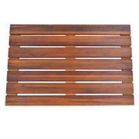 Wholesale Solid Teak Wood Shower Spa Bath Mat for Bathroom or Outdoor