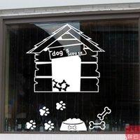 bathing arts - Pet House Pet Hospital bathing beauty shop glass door stickers decorative window stickers window stickers window grilles sticker