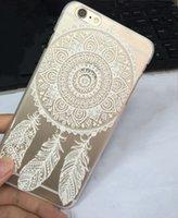 2015 Caso patrón de flores pintado caliente alheña floral blanco Paisley mandala de la flor de plástico cubierta de la caja para IPhone 5 5S 5C 6 6plus 5.5