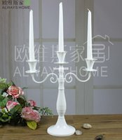 metal candle stand - Vintage antique metal candle holder candlestick stand home decoration wedding candle holders decoration black white