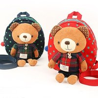 Wholesale Infant toddler baby anti lost backpack bear cartoon toy child school bag