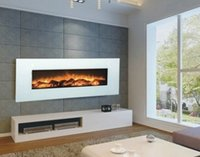 Wholesale economic electric fireplace Wall mounted electric fireplace with resin log White Electric Fireplace