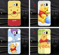 winnie the pooh s4 - 4pcs winnie the pooh Hard Skin Transparent stealth Case Cover for Samsung Galaxy s3 s4 s5 s6 s6edge