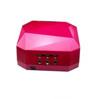 uv lamp - DHL Fashion CCFL W LED Light Diamond Shaped Best Curing Nail Dryer Nail Art Lamp Care Machine for UV Gel Nail Polish EU Plug L0068