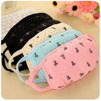 Wholesale Cute bow girls masks dust masks fall and winter fashion lovers cotton masks double warm