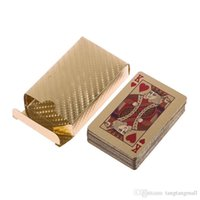 Wholesale New Special K Karat Gold Foil Plated Game Poker Casino Playing Card Deck A5