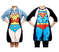 Wholesale 2014 Hot sale Funny Apron Bikini super women cooking apron Batman Spider women Kitchen Apron