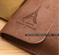 Wholesale Korea Style Creative Design Retro Style tower velour leather tether pencil case pen bag cosmetic bag