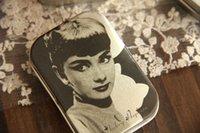 audrey hepburn items - Classic vintage Audrey Hepburn tin candy box metal box tin rectangle photography props novelty items