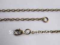 Wholesale Free ship Bulk piece mm Antique bronze more color can pick up cable Chain Necklace Pendant chain with lobster clasp