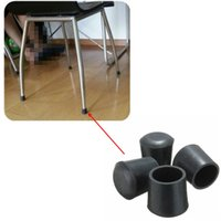 Wholesale New Hot selling Practical Non slip Skid Proof Rubber Black Table Chair Leg Feet Pads Foot Covers Floor Protector order lt no tracking