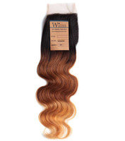 hair products - Wigiss Hair Products Closure Brazilian Body Wave Hair Lace Top Closure quot quot Wave quot quot B Color Light Brown H6120A