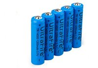 Wholesale UltraFire AA Battery mAh V Protected Rechargeable li ion Battery For flashlight SK68