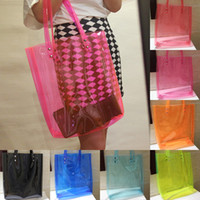 Totes plastic tote - Details about Oversized Bright Candy Clear Plastic PVC Tote Satchel Beach Hobo Bag Handbag Purse Casual