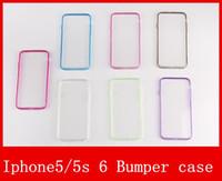 Pour Iphone 6 Étui Iphone 6s Plus Étui Mat PC + TPU Doux dur uniformément Transparent Transparent Gel Housse Étuis pour Iphone 5 5S Bumper Case